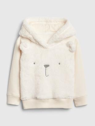 Gap Baby Brannan Bear Sherpa Hoodie Sweatshirt