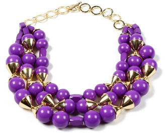 Amrita Singh Women's Necklaces Purple - Purple & Goldtone Noho Three-Layer Statement Necklace
