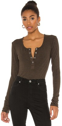 Bobi Flat Rib Stripe Bodysuit