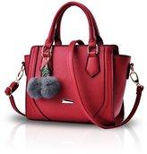 NICOLE&DORIS Women Casual Handbag Crossbody Shoulder Purse Tote Satchel Shopping Bag Faux Leather PU Gray