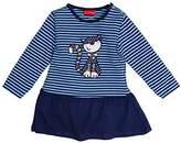 Salt&Pepper SALT AND PEPPER Baby Girls' B Funny Stripes Katze Dress,12-18 Months