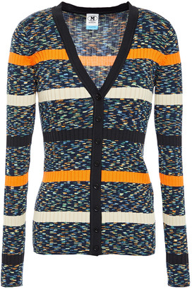 M Missoni Striped Marled Cotton-blend Cardigan