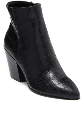 Dolce Vita Coltyn Croc-Embossed Leather Bootie