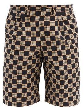 Burberry Dan Checked Cotton-twill Shorts - Black Beige
