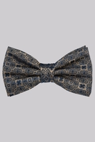 Moss Bros Taupe Medallion Bow Tie