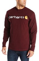 Carhartt Men's Signature Logo Midweight Jersey Long Sleeve T-Shirt