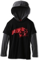 Fox Rutledge 2fer Hoodie (Big Kids) (Black) - Apparel