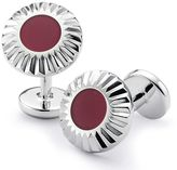 Charles Tyrwhitt Burgundy circle with textured edge enamel cufflink