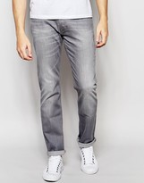 Lee Jeans Powell Low Slim Fit Stretch Gray Used Light Wash