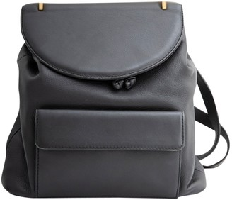 M2Malletier Black Leather Backpacks