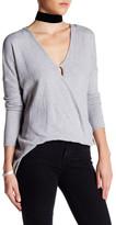 En Creme Asymmetric V-Neck Sweater