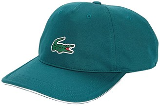 Lacoste Ultra Dry Golf Cap (Black/White) Baseball Caps