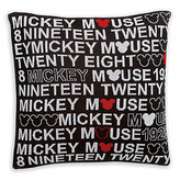 Disney Mickey Mouse 1928 Knit Pillow by Ethan Allen