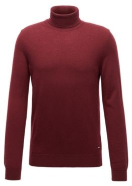 BOSS Turtleneck sweater in lightweight Italian cashmere