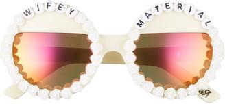 Rad + Refined Wifey Material Round Sunglasses