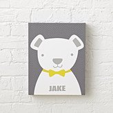Bow Tie Teddy Personalized Wall Art