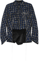 Haider Ackermann Stitched wool-blend bouclé jacket