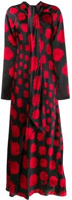 Marni long geometric pattern dress