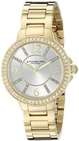 Stuhrling Original Women's Quartz Watch with Silver Dial Analogue Display and Gold Stainless Steel Bracelet 480.04