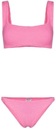 Hunza G Crinkled Cropped Bikini Set