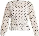 Balenciaga Uplifted silk-charmeuse top