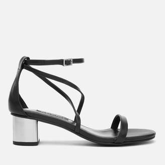 Senso Women's Jemini Leather Block Heeled Sandals - Ebony