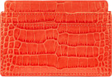 Smythson Mara Crocodile-embossed Leather Card Holder