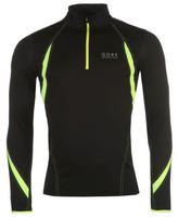Gore Mens Air Zip Tee Shirt Top Lightweight Mesh Chin Guard Elastic Running