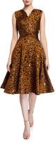 Zac Posen Leopard-Print Fit & Flare Cocktail Dress