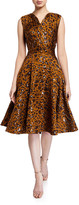 Zac Posen Leopard-Print Fit & Flare Cocktail Dress