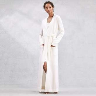 The White Company Cashmere Long Robe, Porcelain, Extra Small