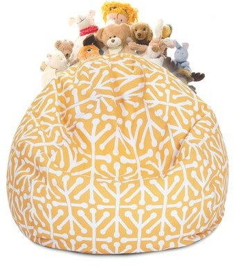 Thumbnail for your product : Ivy Bronx Standard Bean Bag Cover Upholstery Color: Citrus