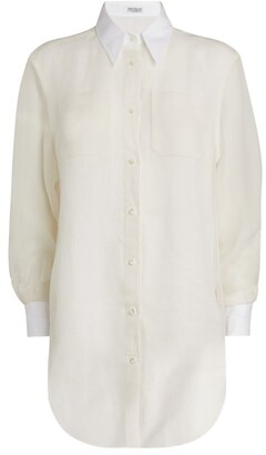 Brunello Cucinelli Silk-Linen Shirt
