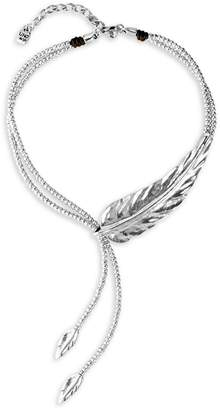 Uno de 50 Crush Silver Bead Feather Necklace