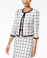 Nine West Plaid Blazer