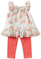 Rare Editions Baby Girls 12-24 Months Floral Printed Top & Solid Leggings Set