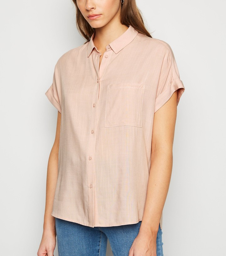 Thumbnail for your product : New Look Mid Pocket Front Short Sleeve Shirt