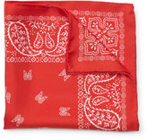 Club Monaco Silk Paisley Pocket Square