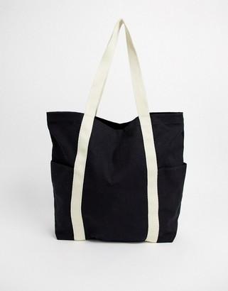 Asos Design DESIGN canvas shopper-Black