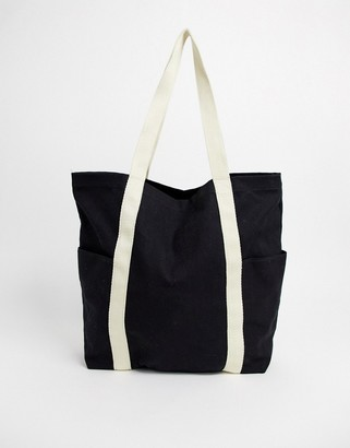 Asos Design DESIGN canvas shopper