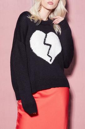 Wildfox Couture Jella Broken Heart Sweater