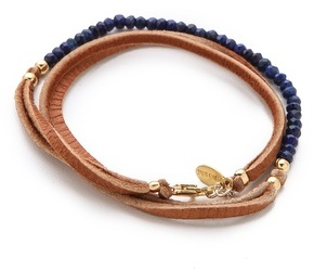 Shashi Rachel Small Leather Wrap Bracelet