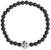 King Baby Studio Men's Onyx Bead Bracelet