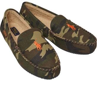 Ralph Lauren Mens Dezi Moccasin Slippers Green Camo/Orange