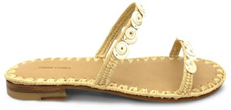 Carrie Forbes Yasmina Shell-Embellished Raffia Sandals