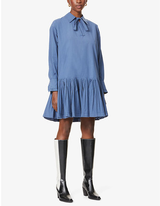 See by Chloe Pleated hem cotton mini dress