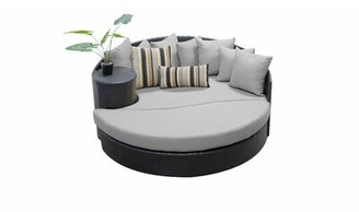Sol 72 Outdoor Tegan Patio Daybed with Cushions Cushion Color: Gray