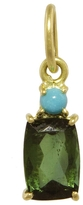 Irene Neuwirth One-Of-A-Kind Turquoise Drop and Green Tourmaline Charm