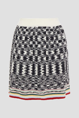 Missoni Pleated Crochet-knit Wool Mini Skirt