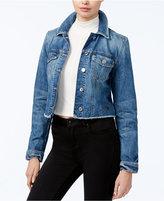 GUESS Reworked Raw-Hem Denim Jacket